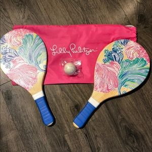 Lily Pulitzer Paddle Ball Set New